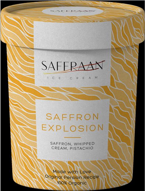 Saffraan Ice Cream Saffron Explosion